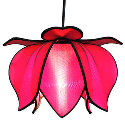 Hanging Baby Blooming Lotus Lamp, Pink / 12' Swag Kit