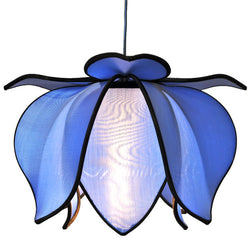 Hanging Baby Blooming Lotus Lamp, Sky / 12' Swag Kit