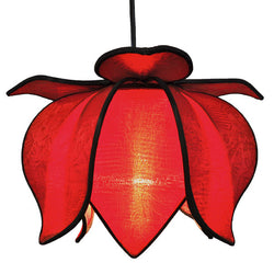 Hanging Baby Blooming Lotus Lamp, Solar / 12' Swag Kit