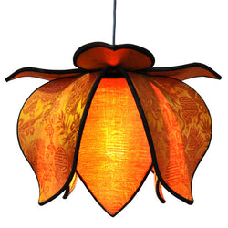 Hanging Baby Blooming Lotus Lamp, Sun / 12' Swag Kit