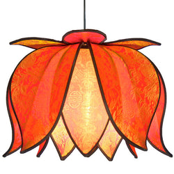 Hanging Blooming Lotus Lamp, Citrus / 12' Swag Kit