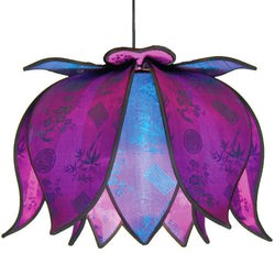 Hanging Blooming Lotus Lamp, Jewel / 12' Swag Kit