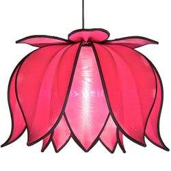 Hanging Blooming Lotus Lamp, Pink / 12' Swag Kit