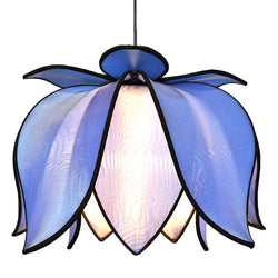 Hanging Blooming Lotus Lamp, Sky / 12' Swag Kit