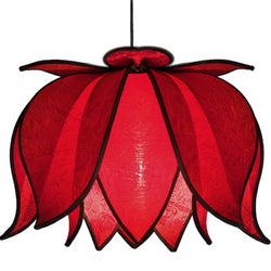 Hanging Blooming Lotus Lamp, Solar / 12' Swag Kit