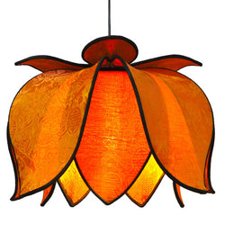 Hanging Blooming Lotus Lamp, Sun / 12' Swag Kit