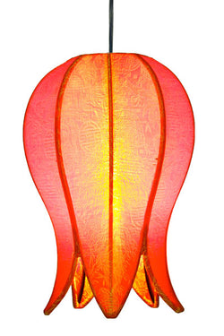Hanging Flowering Lotus Lamp Small, Citrus / 12' Swag Kit