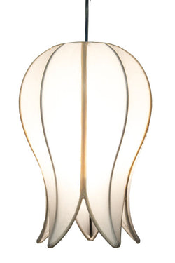 Hanging Flowering Lotus Lamp Small, White / 12' Swag Kit
