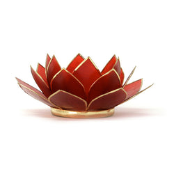 Gemstone Lotus Tea Light Holder, Ruby