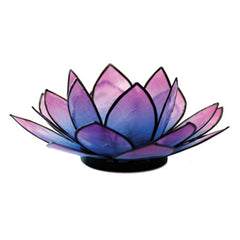 SoHo Lotus Tea Light Holder - Pink & Turquoise