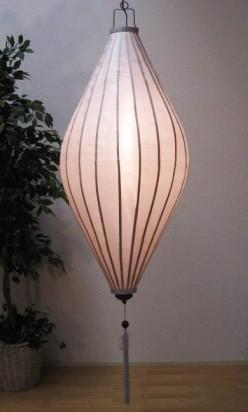 Chinese Lantern Oval 6', White