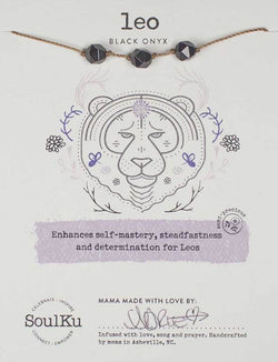 All Signs Zodiac Necklaces, Leo (Black Onyx)
