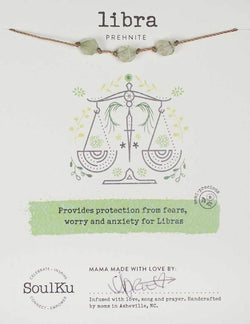 All Signs Zodiac Necklaces, Libra (Prehnite)