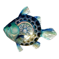 Wall Fish Blue