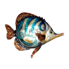 Wall Fish Blue Swirl