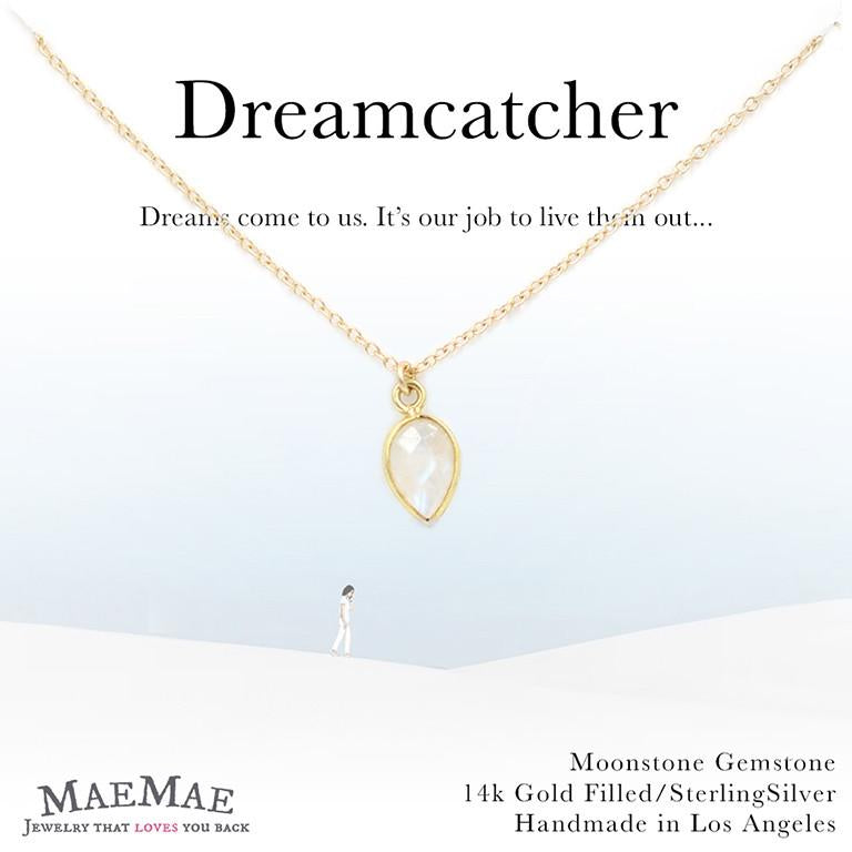 Dreamcatcher Necklace Gold