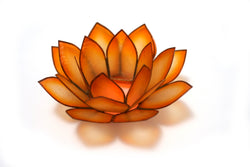 Paradise Lotus Tea Light Holder, Mango