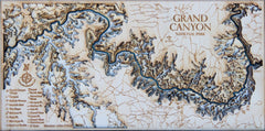 Grand Canyon Mini 3D Wood Map