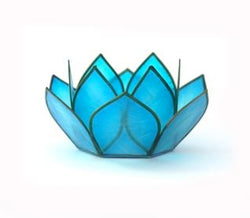 Mini Paradise Lotus Tea Light Holders, Cool Water