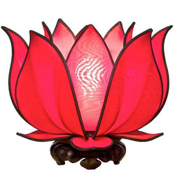 Blooming Lotus Table Lamp, Red