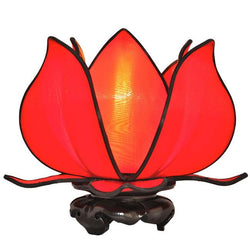 Baby Blooming Lotus Lamp, Red