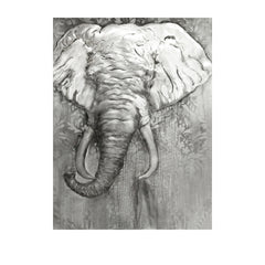 Metal Elephant Art Painting
