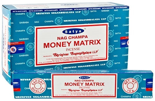 Satya Money Matrix Incense - 15 Gram Pack