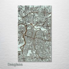 "Sacramento Wood Fired Map - Medium (22.5"" x 38"")"