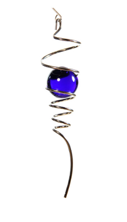 Wind Spinner Silver Spiral Tail, Blue