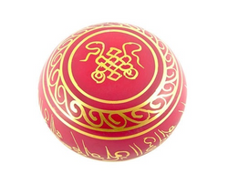 Red Tibetan Meditation Singing Bowl - 6
