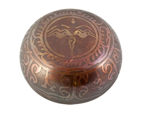 Om Symbol Tibetan Meditation Singing Bowl - 4