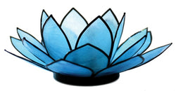 SoHo Lotus Tea Light Holder, Aqua