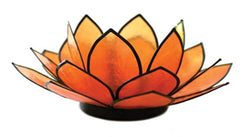 SoHo Lotus Tea Light Holder, Orange