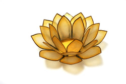 Paradise Lotus Tea Light Holder, Sunshine