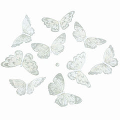 Butterfly Garland White Glitter (Medium)
