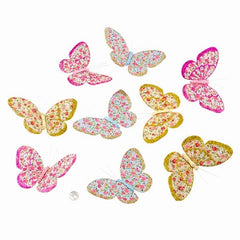 Butterfly Garland Jacquard Spring Glitter