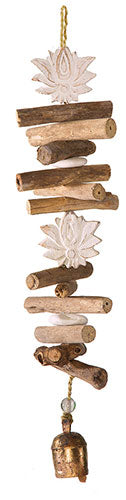 Driftwood Double Lotus Chime