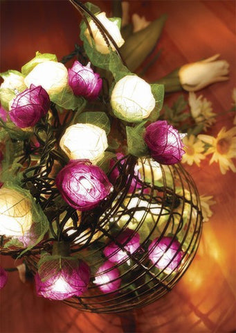 Flower Rose String Lights - Lavender - Om Gallery
