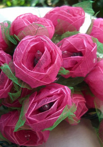 Flower Rose String Lights - Pink - Om Gallery