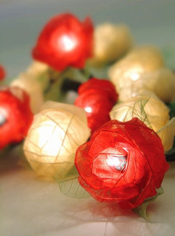 Flower Rose String Lights - Red - Om Gallery