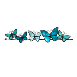 Butterflies on a Wire Wall Art, Sea Blue