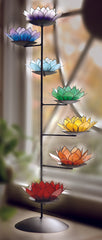 Capiz With Spiral Chakra Stand Set