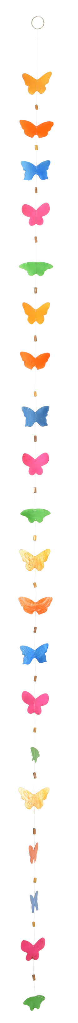 Capiz Shell Garlands - Fun Styles, Colored Butterfly