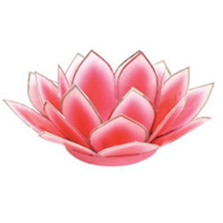 Dahlia Lotus Tea Light Holder, Pink