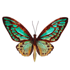 Wall Butterfly Aqua and Gold
