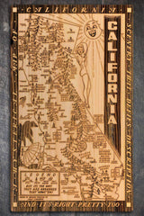 "California Wow Wood Fired Map -  Schmedium (14.5"" x 24"")"