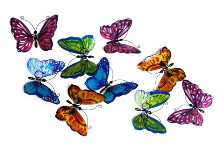 Capiz Shell Butterfly Garlands- Multi Colored - Om Gallery