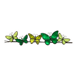 Butterflies on a Wire Wall Art, Green