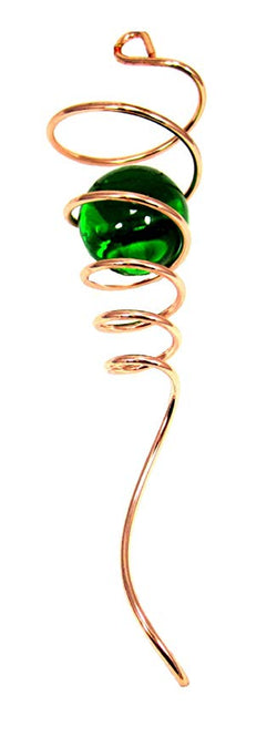 Wind Spinner Copper Spiral Tail, Green