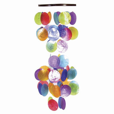 "Capiz Chime 22"" Multicolor - Om Gallery"